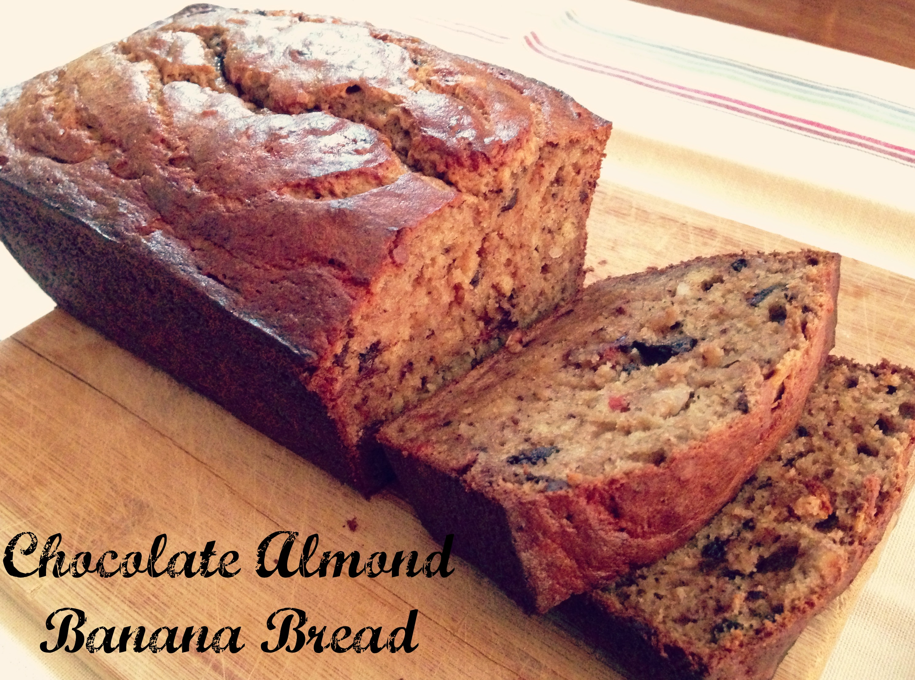 Choc Almond Banana Bread