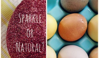 Easter Eggs: Sparkly or Natural Dye?