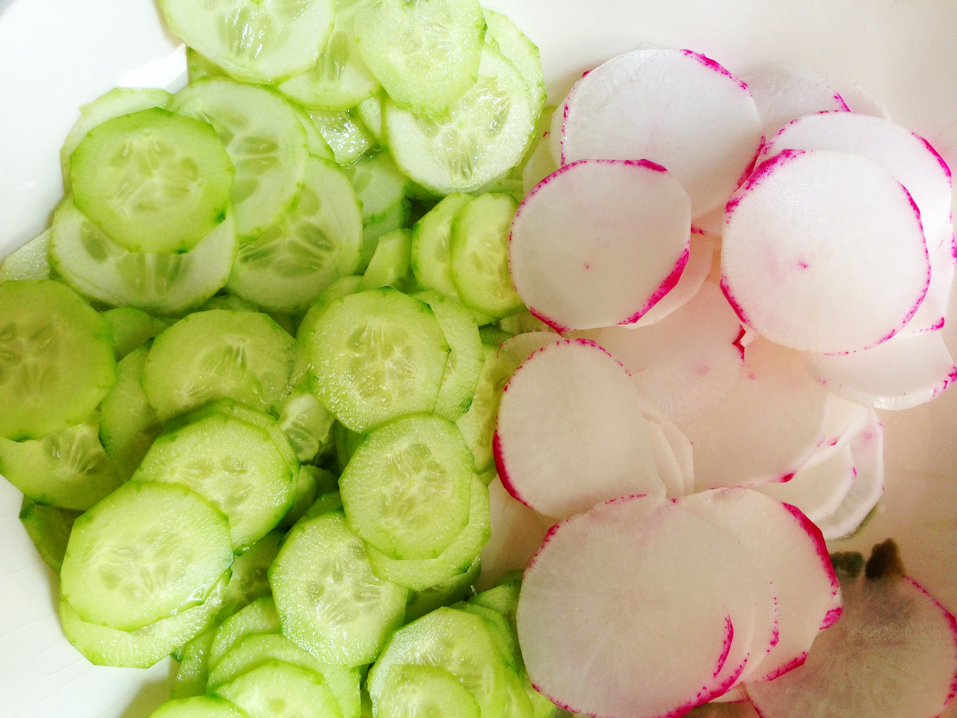 cukes and radishes