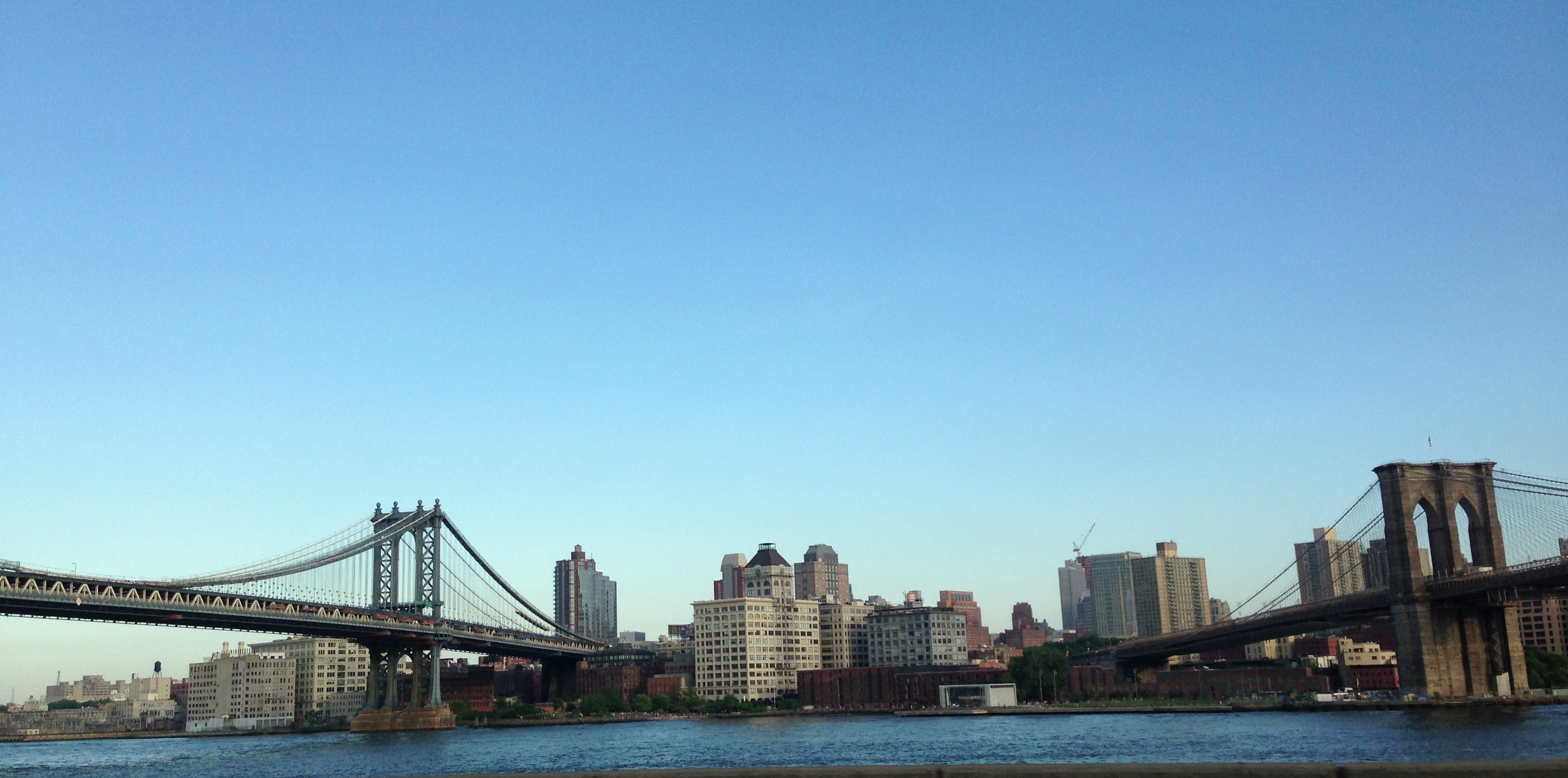 manhattan and brooklyn bridges