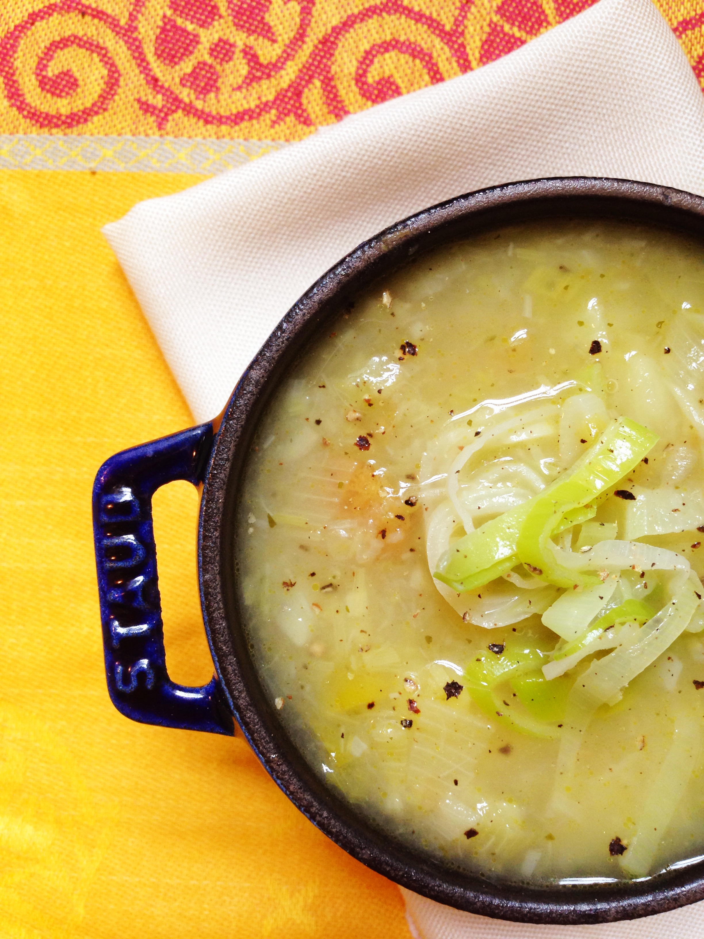 rustic potato leek soup