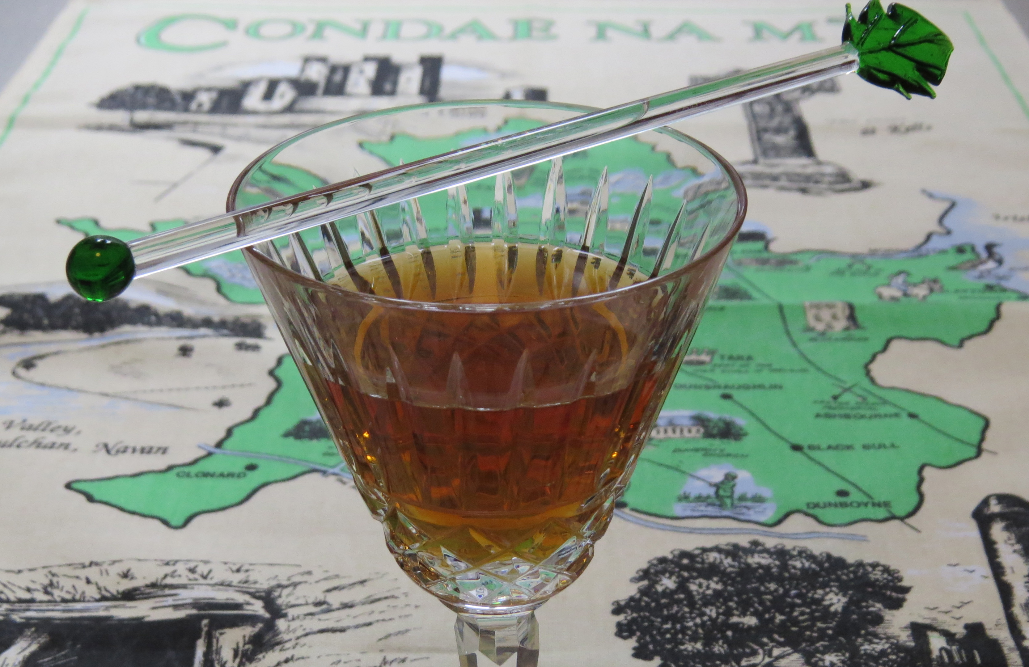 irish manhattan cocktail