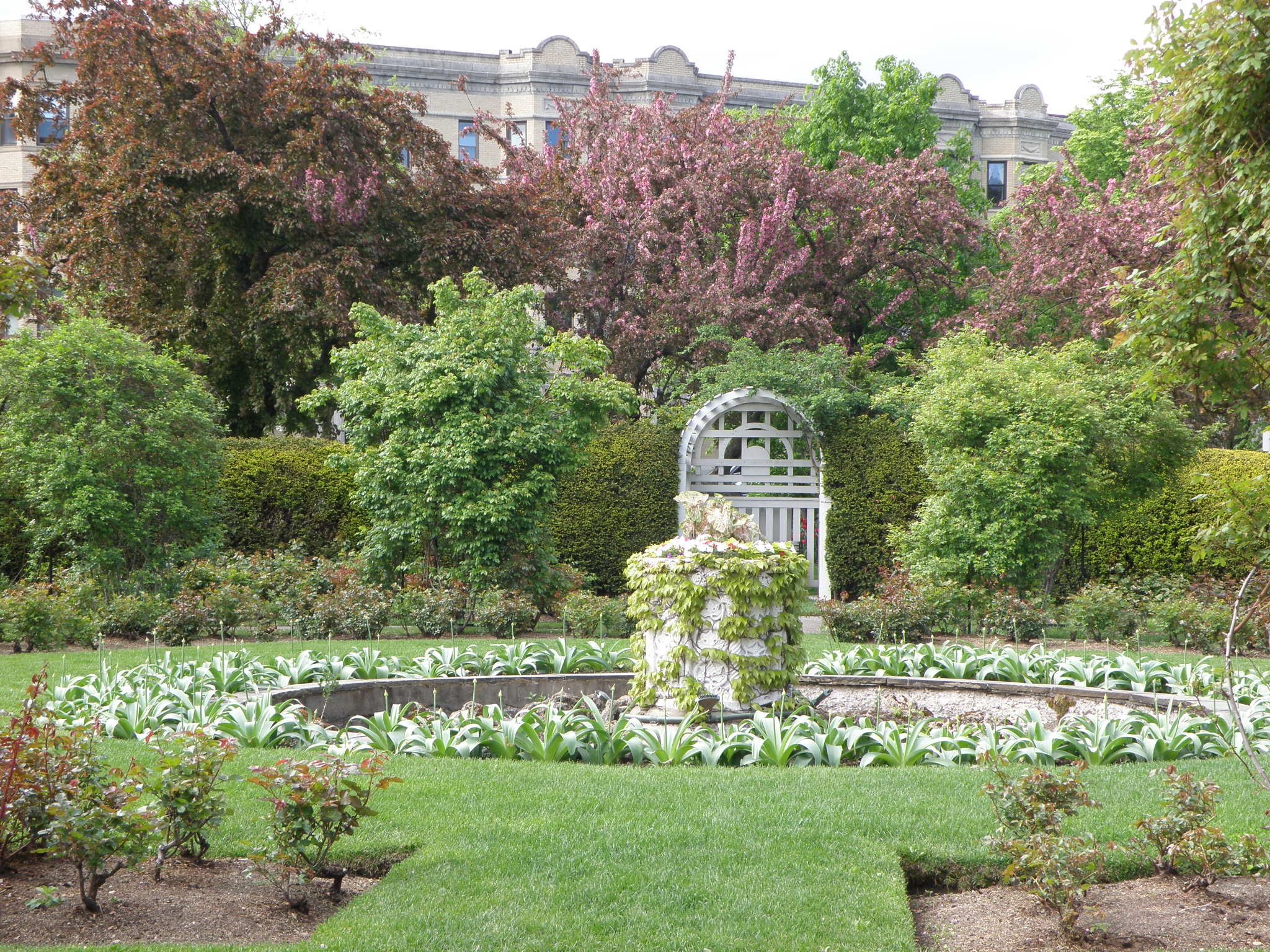 Back Bay Fens Rose Garden long view