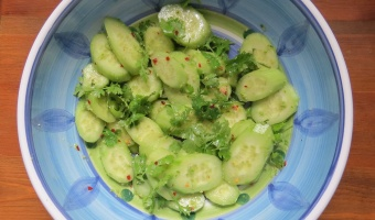 Spicy & Cool Cucumber Salad