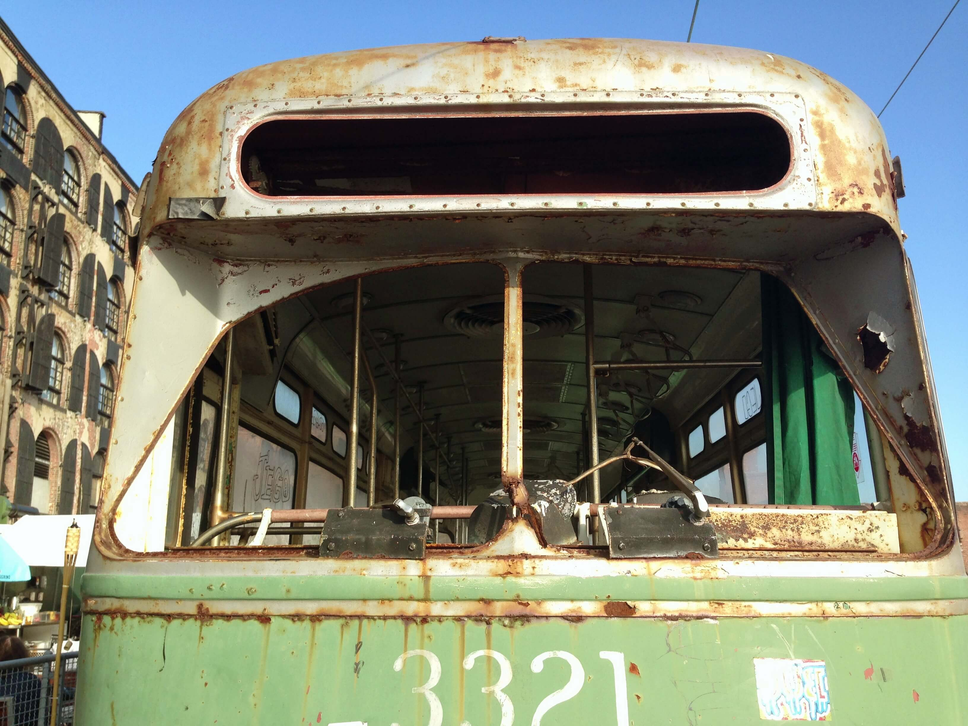 close up fairway subway cars red hook brooklyn