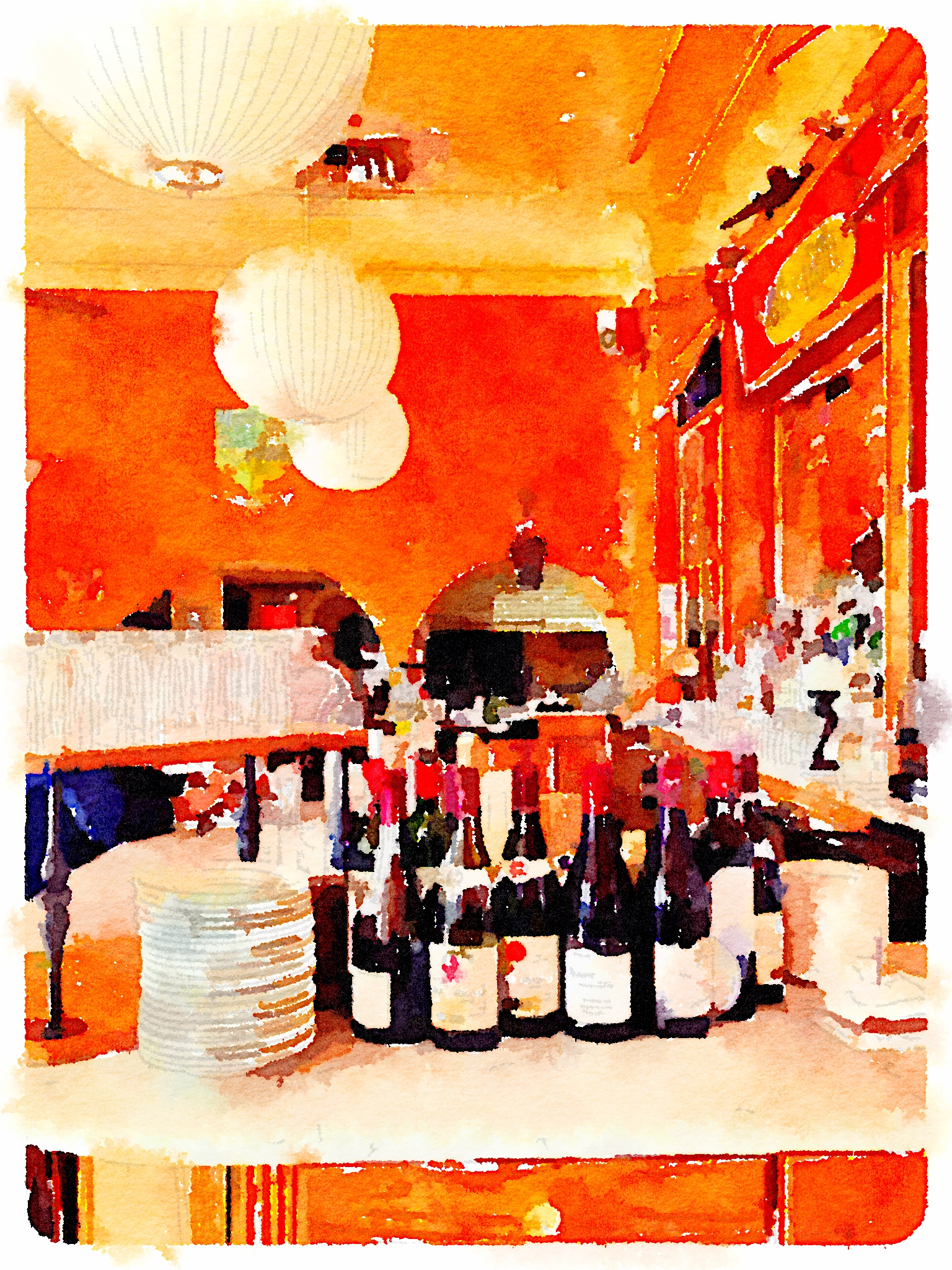 orange cafe gitane waterlogue