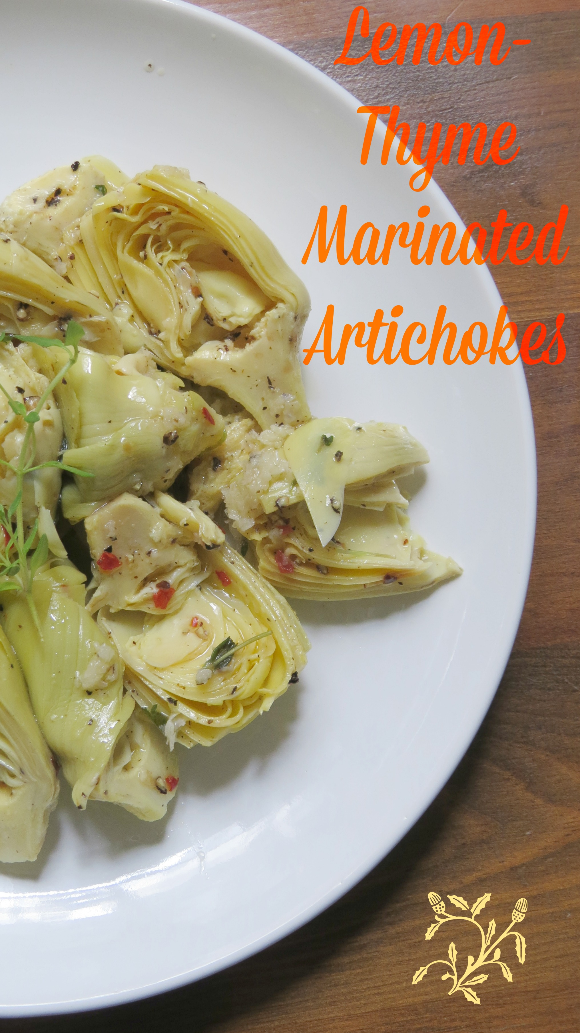 lemon-thyme marinated artichokes