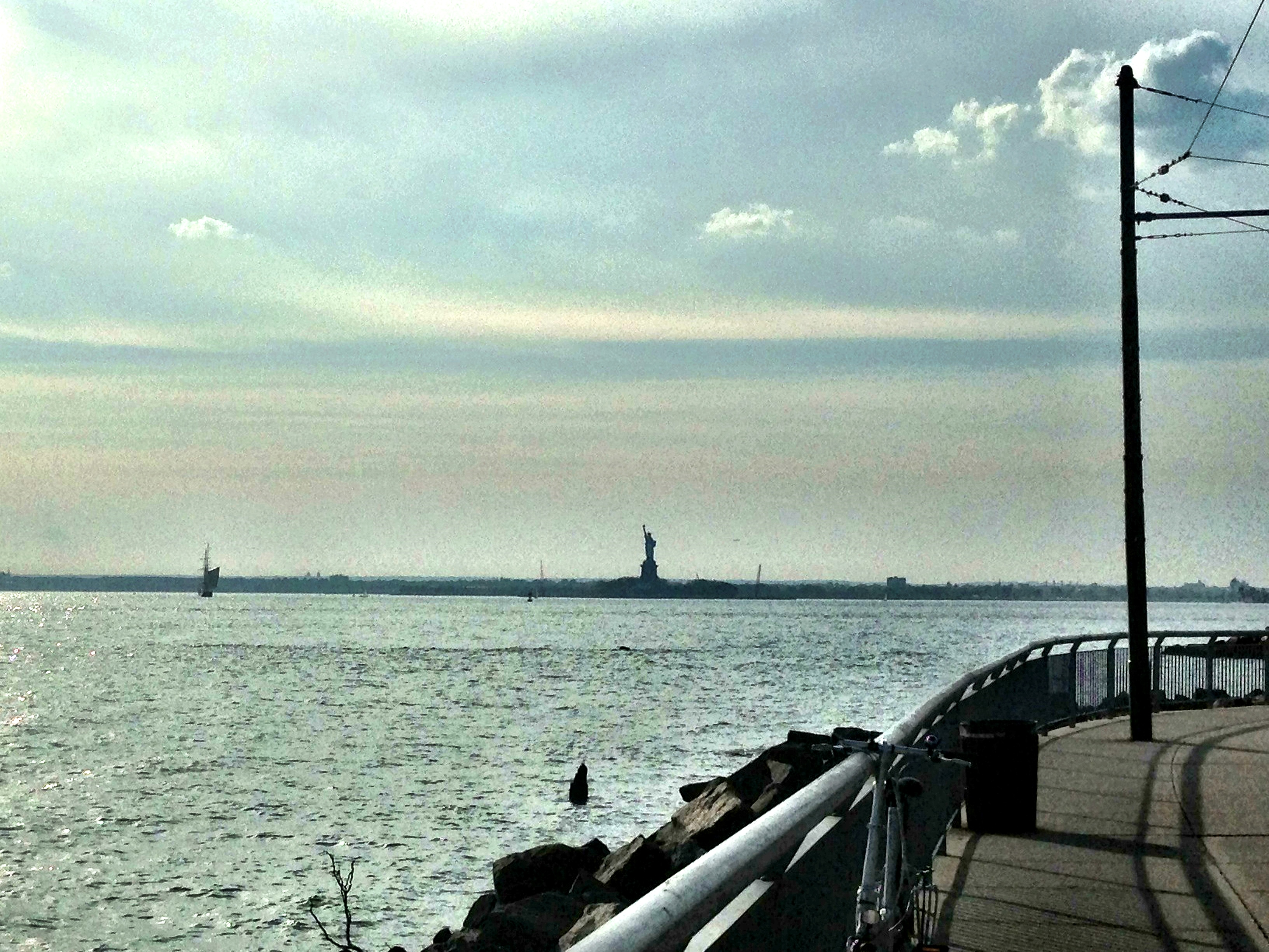 lady liberty view red hook brooklyn