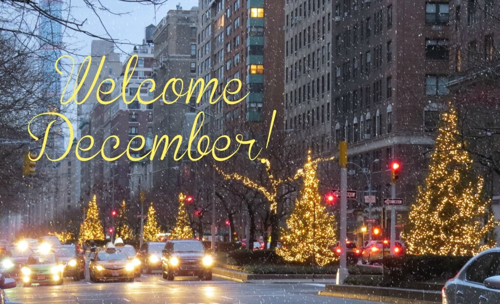 welcome December holiday christmas season new york city
