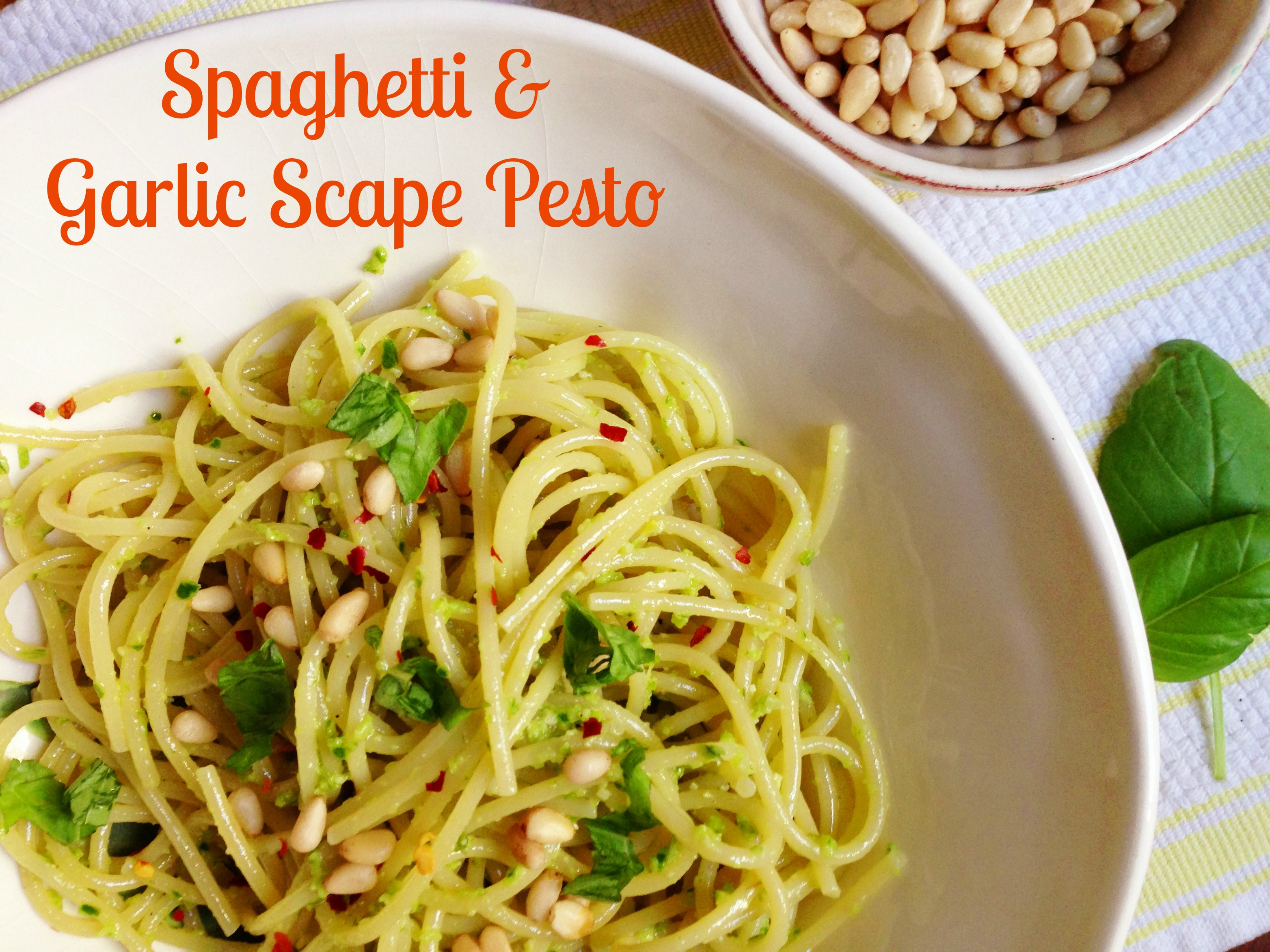 garlic scapes pesto spaghetti with garlic scape for garlic scape pesto ...